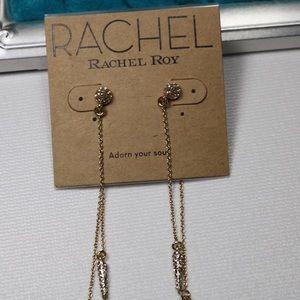 Rachel Roy dangle rhinestone earrings
